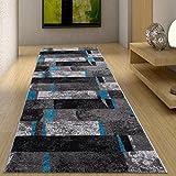 Moderne Läufer Teppich Flur Brücke - Tolle Muster in GRAU