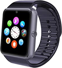 Smartwatch, Willful Smart Watch Phone Android iOS Wear con SIM Card Slot Fotocamera Orologio Fitness Tracker Watch Braccialetto Sport Uomo Donna Pedometro per iPhone Huawei Samsung Smartphone (Activity Tracker, Contapassi, Calorie, Distanza, Sonno, Notifiche Messaggio (Chiamata, SMS, Facebook, WhatsAPP...), Controllo Remoto Fotocamera Musica, Promemoria Sedentaria, Allarme, Calcolatrice, Calendario, Registrazione, Anti-Smarrimento, Trova il Telefono )