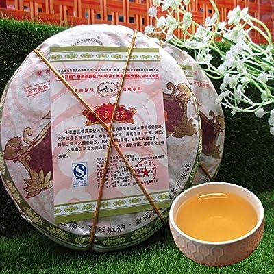 Yunnan Pu er thé cru sept gâteaux 200g (0.44LB) thé organique pu erh premium noir fait main thé Pu'er Thé vert thé Puer thé chinois thé cru thé Puerh nourriture saine thé Pu-erh verte nourriture