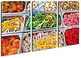 Molti Confettini colorati come tela, motivo pronta da appendere su telaio in vero legno, stampa digitale di alta qualità con cornice, non Poster o poster