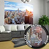 XXL Poster New York City Skyline - Wandbild Dekoration Penthouse Sonnenuntergang Manhattan Amerika USA Deko Big Apple NYC | Wandposter Fotoposter Wanddeko Wandgestaltung by GREAT ART (140 x 100 cm)