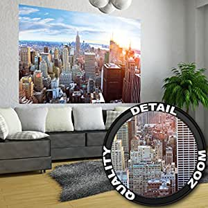Xxl affiche new york skyline d coration murale coucher for Decoration murale vue sur new york