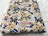 #7: 2.5 Meter Hand Block Print Fabric Cotton fabric for garments Kurti and Women Wear Fabric