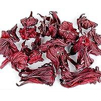 TooGet Organic Dried Hibiscus Flowers, 100% Natural Premium Quality. Herbal Teas Wholesale, Top Grade - 8 OZ