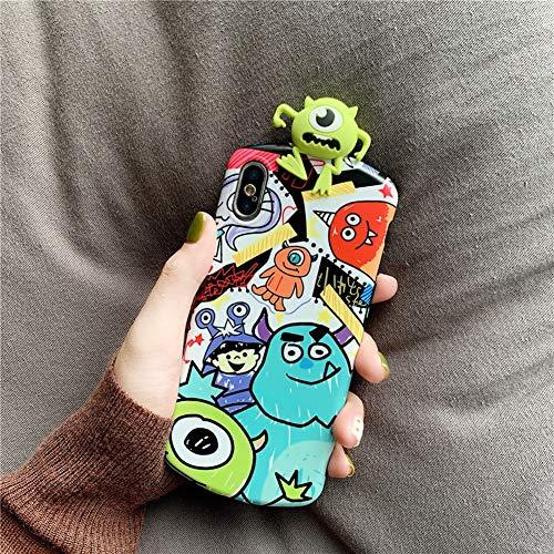 SDSJK Apple Phone Case Fallschutz Für das iPhone Xmax XR XS X 7 8plus Mädchen Junge Niedliche Cartoon Anime Monsters Inc. TPU Schutzhülle,Figure2,7/8plus