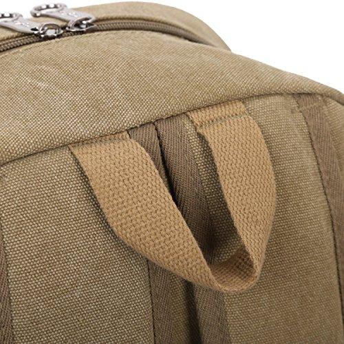 Laidaye Retro Canvas Backpack Business Tempo Libero Multiuso Viaggio Zaino Verde
