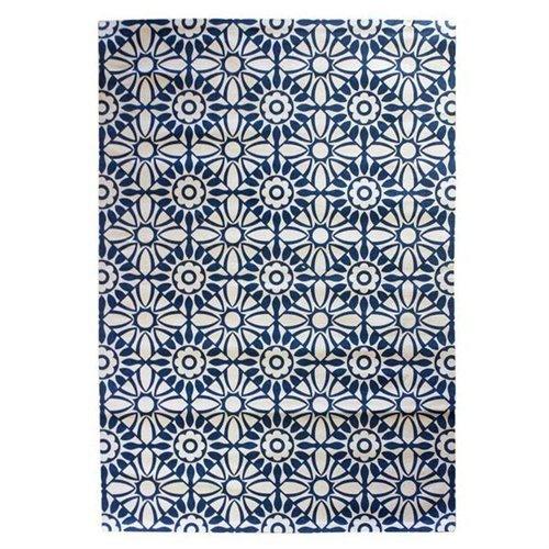 Art Deco Home - Alfombra Impresa Azul 120x180 cm