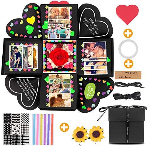 YeeStone Kreative Überraschung Box Explosion Box Geschenk-Box Überraschungsbox Explosionsbox Handgemachtes Scrapbook Faltendes Fotoalbum - für Weihnachten/Valentine/Jahrestag/Geburtstag/Hochzeit