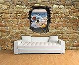 Dalinda® Designtapete Vliestapete in 3D-Optik Strand mit Steinen Natursteinmauer Tapete VT542