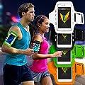Mobilefox Handytasche Sport Armband mit LED-Licht & Schlüsselfach Sweatproof für Smartphone in verschiedene Farben- Joggen Schutzhülle Smartphone Halter