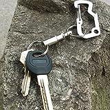 Sedeta 1pcs abnehmbarer Schlüsselanhänger-Ring Tactical abnehmbarer Schwenker Schlüsselanhänger abnehmbarer Schlüsselanhänger Kit Schlüsselring QR Quick Release Kit Beste abnehmbare Schlüsselanhänger