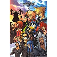 Trends International Kingdom Hearts Group Video Game Gaming Cool Wall Decor Art Print Poster 22x34