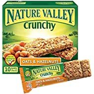 Valle de la naturaleza crujiente barras de granola avena y avellana 5 x 42g