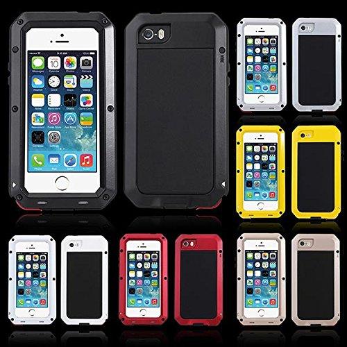 Case antichoc aluminium verre Gorilla Žtanche pour iPhone 5S argent