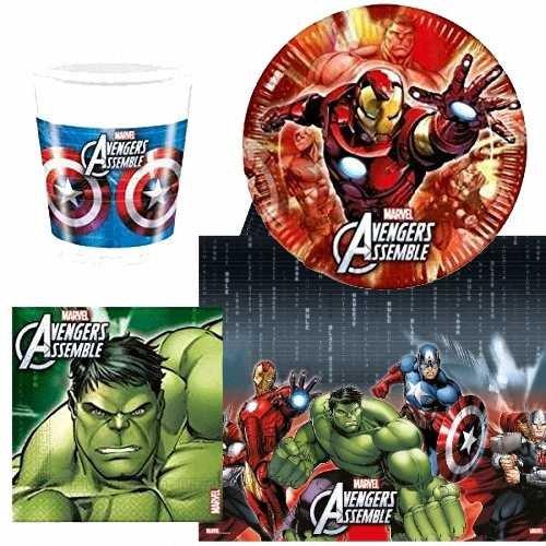 Party-Geschirr Marvel Avengers, für 8 Personen