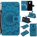 Guran® Custodia in Pelle per Lenovo Moto G4 Play 4G (5 pollici) Smartphone avere Carta Slot Supporto Protettiva Flip Case Cover-blu
