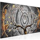 Bilder Abstrakt Figuren Wandbild 150 x 60 cm Vlies - Leinwand Bild XXL Format Wandbilder Wohnzimmer Wohnung Deko Kunstdrucke Grau 5 Teilig - MADE IN GERMANY - Fertig zum Aufhängen 300856c