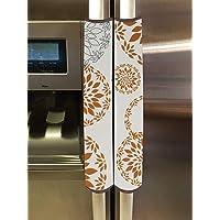 Kuber Industries PVC Fridge/Refrigerator Handle Cover,Set of 2,Rangoli,White, (Model: HS_37_KUBMART020147)