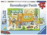 Ravensburger Kinderpuzzle 07617 Unterwegs mit Müllabfuhr und Kehrmaschine
