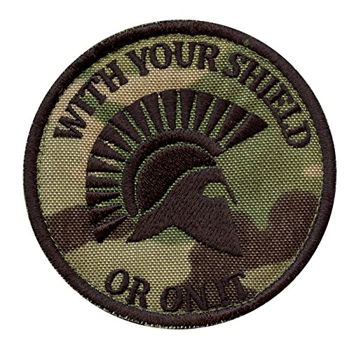 2AFTER1 Multicam with Your Shield OR ON IT Spartan Helmet Morale Embroidered Sew Iron on Patch -
