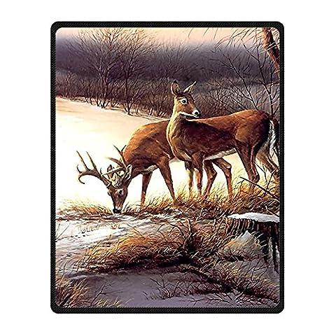 Brauch Deer Hirsch Vlies Decke und Werfen Blanket and Throw