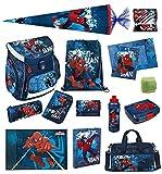 Spiderman Schulranzen Set 21tlg Scooli Campus Up mit Sporttasche, Schultüte 85cm und Schreibtischauflage SPON8252-GR