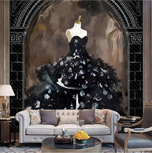Kostüm Kunst Stein - Tapeten Wallpaper Personalisierte Mode Hochzeit Kostüme Abstrakte Kunst Ölgemälde 3D Benutzerdefinierte Wandbilder für Hochzeit Shop Hintergrundwand, B