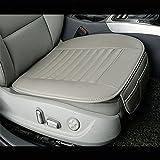 Auto Sitzkissen Surenhap Universal Sitzauflagen PU-Leder-Bambus-Holzkohle-Komfortable, Single Sitz...
