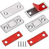 Aimant Porte Placard Loquet Magnetique Jiayi 2 Pièces Ultra-Mince Loqueteaux Magnétiques à Coller Aimant Fermeture Adhesif Me