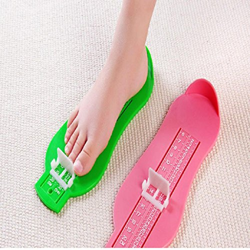 Longra Kinder Baby Fuß Schuh Größe Maß Werkzeug Säugling Gerät Lineal Kit Green