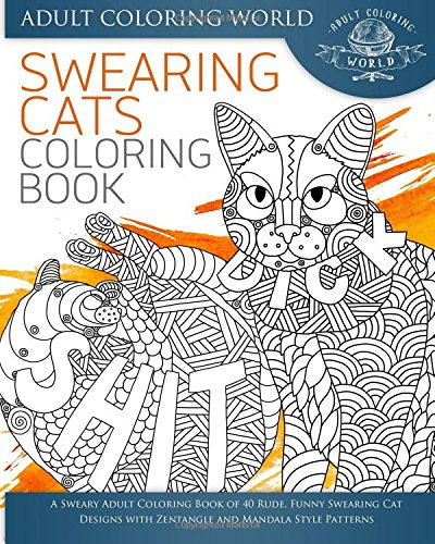 Swearing Cat Colouring Book