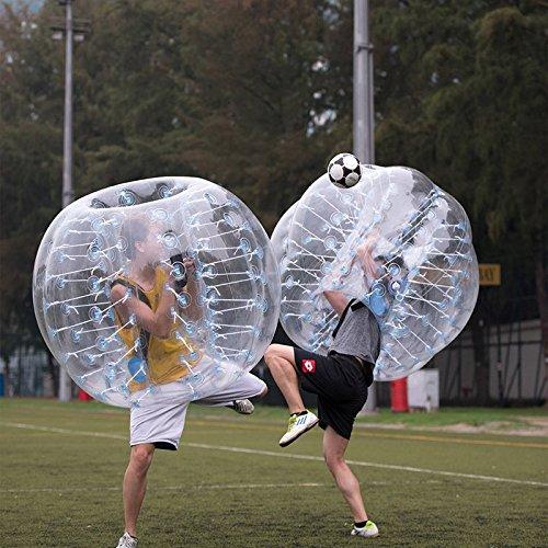 amazingsportstm 2bolas burbujas pelotas de fútbol traje barato Dia 5De 1,5M para adultos PVC transparente (1,2m 1,7m disponible)