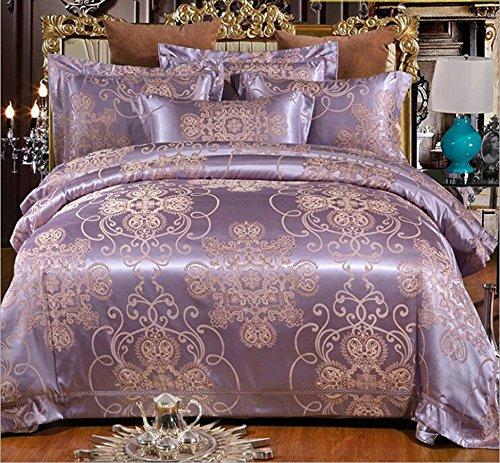 GONGDUANSJ europäischen Stil, Jacquard Satin eine Familie von Vier Bettwäsche,Geeignete Bettgröße 1.5M, 1.8M