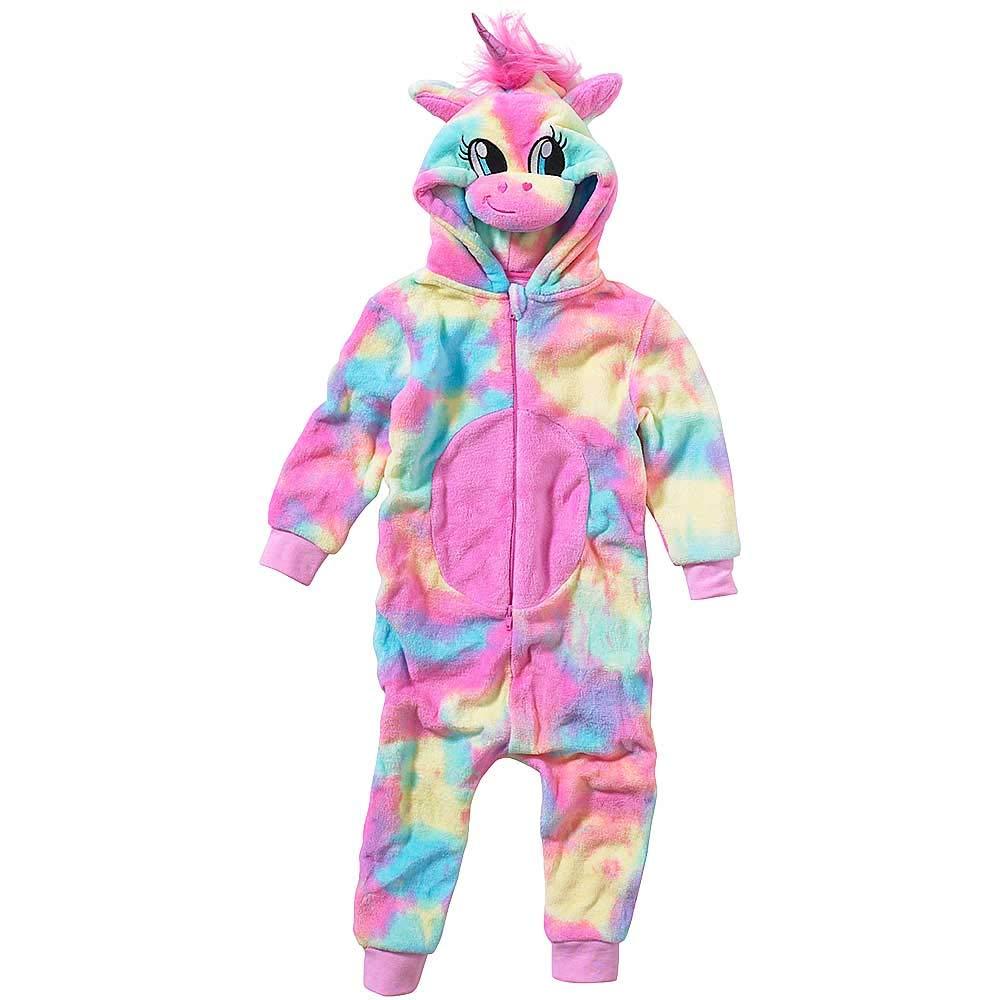 Onesies-Animal-Crazy-Girls-Rainbow-Unicorn-Supersoft-Fleece-Jumpsuit-Playsuit