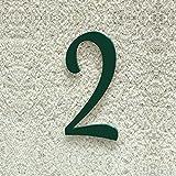 Colours-Manufaktur Hausnummer Nr. 2 - Schriftart: Klassisch - Höhe: 20-30 cm - viele Farben wählbar (RAL 6005 moosgrün (grün) glänzend, 30 cm)