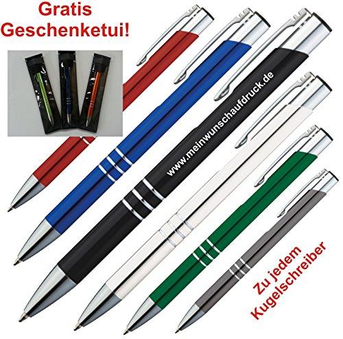 Metall - Kugelschreiber KINGSTON mit Gravur / Logo für Geburtstag Jubiläum Jahrestag Hochzeit... 50 Stück (alle mit gleicher Gravur) auch mit Motiven möglich. Siehe Bild