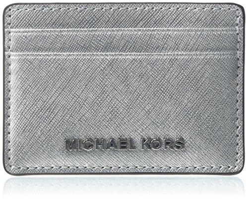 Michael Kors Damen Jet Set Travel Tornistertasche, Silber (Silver), 2.5x9.5x11.4 cm (Kors Tasche Michael Silber)