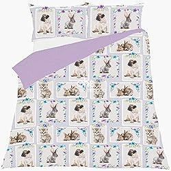 """Dreamscene–""""mascota amor"""" de cama funda de almohada juego de ropa de cama, multicolor, doble/200x 200cm"""