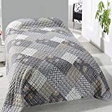 Home Edition Tagesdecke Bettüberwurf Wattiert und Gesteppt 240x220cm Sofaüberwurf Florida