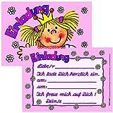 16-teiliges Set: 8 Einladungskarten mit 8 Umschläge *Prinzessin* für Kindergeburtstag vom Lutz Mauder Verlag // 25819 // Prinzessinen Kinder Geburtstag Einladung Karten