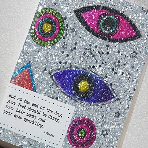 Counting Stars - Pure Fabrication - und am Ende des Tages sollten Ihre Füße schmutzig sein, Ihr Haar chaotisch und Ihre Augen funkeln. Shanti Notizbuch, A6, mehrfarbig -