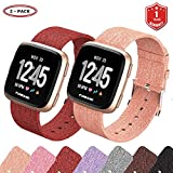 Best Fitbit For Kids - FunBand for Fitbit Versa Strap Bands, Woven Fabric Review