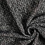 Fabulous Fabrics Wollstoff Wellig – schwarz/Weiss —