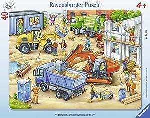 Ravensburger Puzzle 06120–Grandes obras Vehículos 40piezas Marco Puzzle