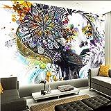 Koyiyo Benutzerdefinierte 3D Mural Tapete Abstrakte Farbe Kunst Figuren Foto Wandbild Ktv Bar Galerie Thema Hotel Hintergrund Wand Tapete-120X100CM