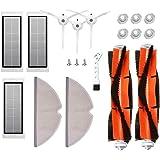 MTKD® Set 17 Reserveonderdelen voor Roborock S50 S51 S55 S5 S6 - Accessoires voor Xiaomi MI Mijia robotstofzuiger - hoofdbors