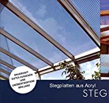 Acryl Doppelstegplatten 16 mm - opal - Zweifachsteg (Euro 42,60/qm) Mindestbestellwert Euro 100,00 (Warenwert)