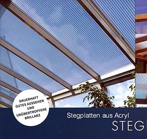 Acryl Doppelstegplatten 16 mm - glasklar - Zweifachsteg - (Euro 39,90/qm)