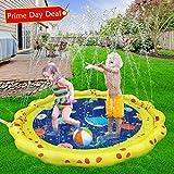 VATOS Splash Pad Wasserspielzeug spielmatte Outdoor Sommer Garten Splash Spielmatte für Baby Party Sprinkler und Splash Play Matte 59