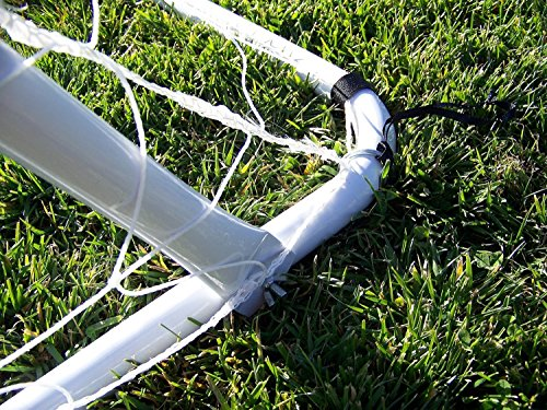 Display4top Soccer Goal 12  X 6  Football Goals W net Straps  Anchor Ball Training Sets